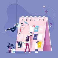 gestión de la organización del planificador semanal y del calendario vector
