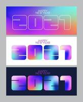2021 New Year banner. 3d bright colors. Minimal cover design. Template Layout flyers, greeting cards, brochures. Vector. vector