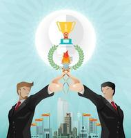Teamwork for successful business vector