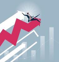 Businessmen rodeo chart - Stock Market concept vector