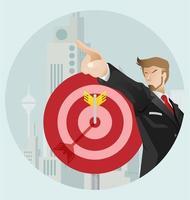vector de éxito empresarial