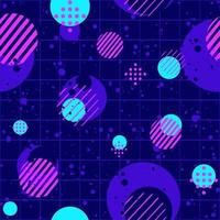 Abstract seamless pattern with neon dots, circles and color splashes. vector