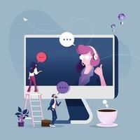 concepto de servicio al cliente en línea vector