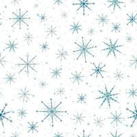 Blue snowflakes seamless pattern. vector