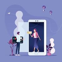 Online shopping-Mobile marketing Concept