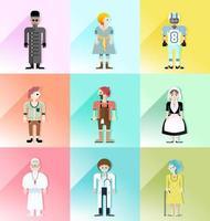 people avatar vector set