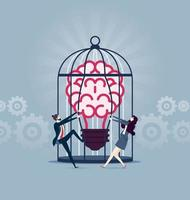 Set free ideas - Business Concept vector illustration