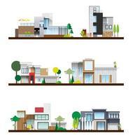 useful modern home set vector
