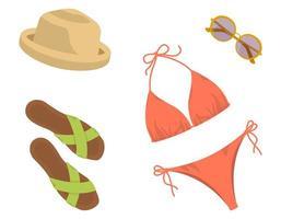 ropa y complementos de mujer. vector