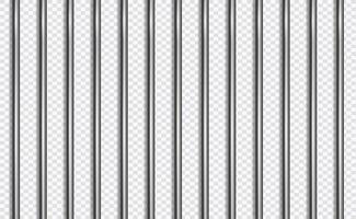 celosía de la cárcel o barras en estilo 3d sobre fondo aislado. Ilustración de vector de prisión.