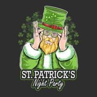 st. patrick's day night party artwork vector