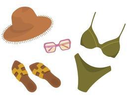 colección de verano para mujer. vector