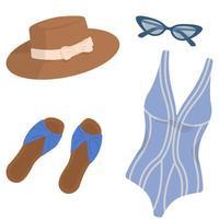 colección de playa para mujer. vector