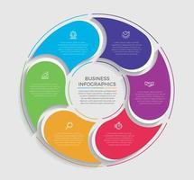 Ilustración de vector de diseño de infografía de concepto de negocio