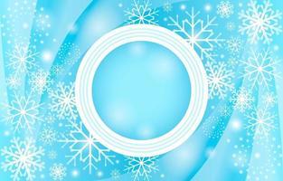 Elegant Gradient Light Blue Snowflakes Background