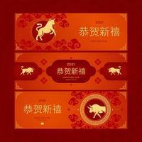 buey dorado en año nuevo chino vector
