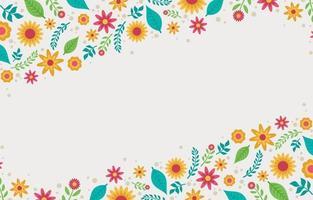 fondo floral flores vector
