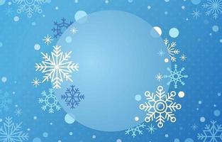 Snowflakes winter season background vector