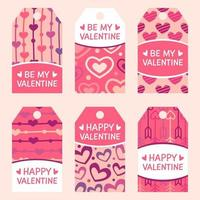 Cute Valentine's labels collection vector