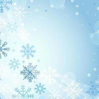 temporada de invierno con fondo de copos de nieve vector
