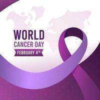 Gradient world cancer day background