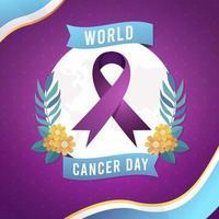 Gradient world cancer day vector