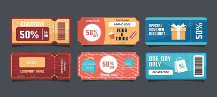 General Voucher for Your Business vector