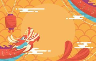 fondo de celebración de año nuevo chino vector