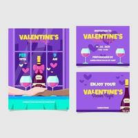 Valentine Dinner Poster Kit vector