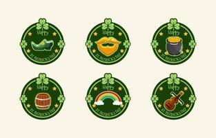 Shamrock Label for St. Patrick's Day vector