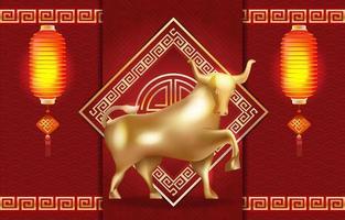 Golden Ox Illustration