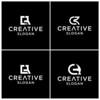 CR logo design template premium vector