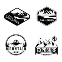 Mount bundle logo designs template premium vector
