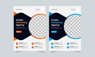 Plantilla de diseño de volante de negocios corporativos, portada de póster de folleto creativo, volante listo para imprimir en color a4