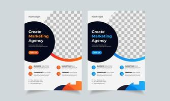 Corporate business flyer design template, creative brochure poster cover, color a4 print ready flyer vector