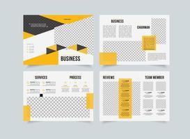 Company proposal creative template, multipurpose brochure design, business propsal geometric design, vertical a4 format vector