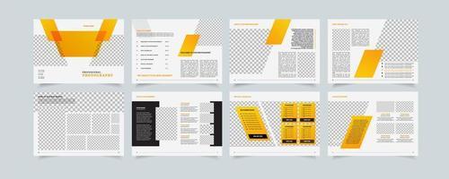 propuesta de empresa plantilla creativa, diseño de folletos multipropósito, diseño geométrico propsal de negocios, formato vertical a4 vector