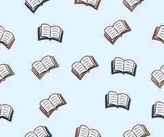 book seamless pattern background vector