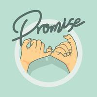 Pinky promise hand gesture vector