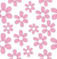 Beautiful pink flowers seamless pattern vector