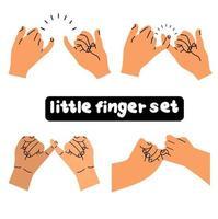little finger making promise set