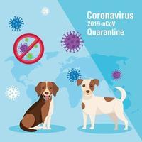 quarantine 2019 ncov campaign with dogs