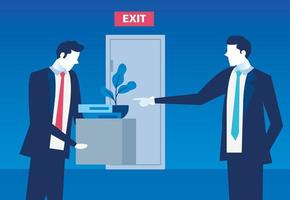 Jefe de despido empresario, despido, desempleo, desempleo y reducción del empleo del empleado concepto vector