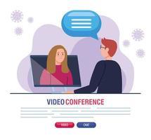 pareja en videoconferencia durante covid 19