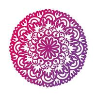 pink circular mandala floral silhouette style icon vector