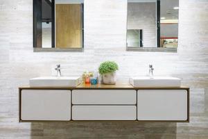 Dual sink bathroom photo