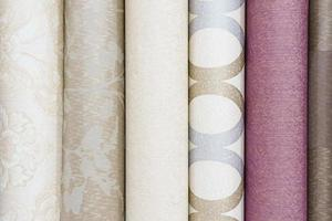 Colorful rolls of wallpaper