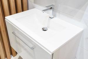 Bright white sink