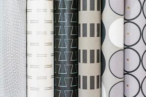 Rollos de papel tapiz de colores como fondo