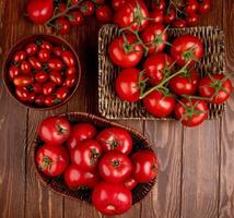 Top view of tomatoes